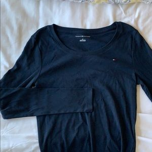 Navy long sleeve tommy shirt
